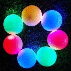 Sich hin- und herbewegende blinkende LED Golfbälle des kundenspezifischen NachtGolfball-