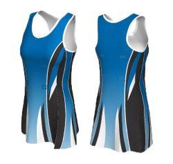 Custom 100%Poliéster sublimación Netball uniformes vestido vestido de tenis