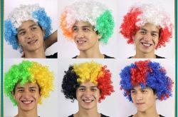 Euro Cup Bandera Nacional - Partido de ventilador de peluca de colores explosivos suministros de sombrerería Carnaval Props