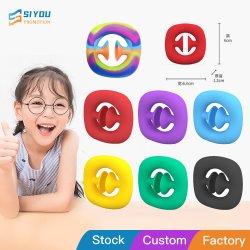 Silicone Brinquedo Fidget Rainbow/Multi Color pega mão firme com os dedos de Ventosa Exerciser Dedo Pega Exerciser Brinquedos