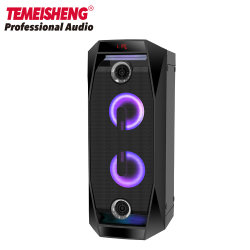 Estágio Profissional Temeisheng PA boa parte Bluetooth portátil com alimentação recarregável Caixa acústica com função de Karaoke