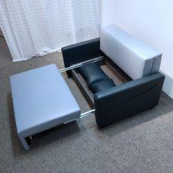 أثاث غرفة المعيشة بالجملة Futon Chesterfed جلد أريكة سرير مع التخزين