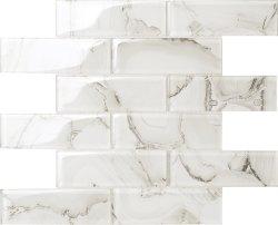베스트셀러 백색 마노 대리석은 유리제 모자이크를 디자인한다