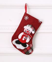 Christmas豪華なStockings Plush XmasサンタSnowman 3D Stuffed Socks