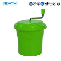 Ensalada de plástico verde Heavybao Spinner con manivela