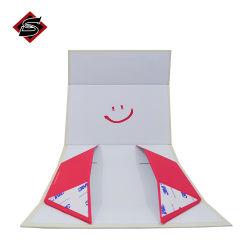 Conception personnalisée de la mousse blanche femmes magnétique Lingerie boîtes de papier sous-vêtements soutien-gorge boîte cadeau Emballage du papier