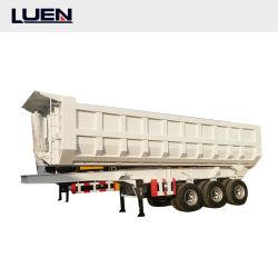 Luen 2021 Hot Sale 3 Achse Dump Kipper / Tipping Cargo Flachbett Schweren Lkw Semi-Anhänger