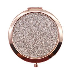 Acero inoxidable portátiles Mini Pocket espejo de maquillaje