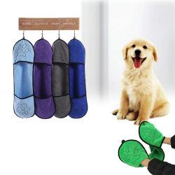 Tovaglioli dell'animale domestico di Microfiber con la casella di marchio della zampa