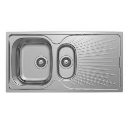 مطبخ من الفولاذ الذي لا يصدأ حوض الحوض السفلي 2 الحوض السفلي