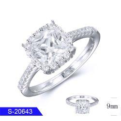 Nouveau design Fashion bijoux mariage Sterling Silver CZ Bague Solo pour les femmes