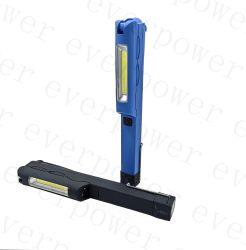 Girar el lápiz recargable LED de bolsillo de la luz de trabajo con magnético
