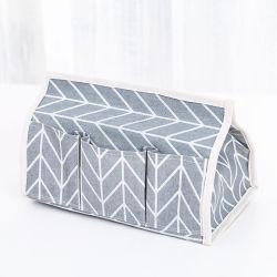綿のリネンティッシュボックス多機能の紙箱のデスクトップのオルガナイザーの収納箱