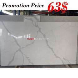 Plak van het Kwarts van Calacatta van de Prijs van de Bevordering van de Fabriek van de Steen van China de Kunstmatige Witte Marmeren