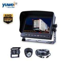 """La conception de Black Dome W/ Objectif rotatif à l'intérieur de la surveillance/bus Camion caméra 1080P écran 7"""""""