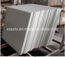 Branco puro cristalizado Minicrystal Vidro balcão em mármore de pedra artificial
