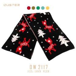 Gebreide de Jonge geitjes van de herfst en van de Winter Kerstmis van de Sjaal van de Polyester kijken de Toebehoren van de Manier van de Sjaal van de Vrouw van de Stijl van het Af:drukken van de Sjaal van Kinderen
