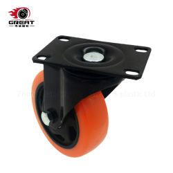 Industrial Caster Black Gehäuse Orange PVC, PU, PP-Kastenrad mit Doppelkugellager
