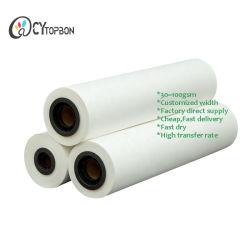 Séchage rapide à prix réduit 64inch 100GSM rouleau de papier transfert de sublimation