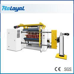 Shaftlessのローディングを用いる自己接着印刷用粘着シート高速スリッターRewinder