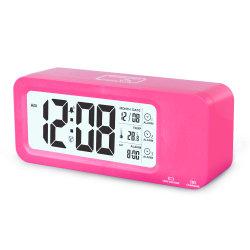 Última pantalla LCD de gran tamaño reloj 3 alarmas de reloj de la sala de moldes de noche