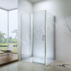 Ванная комната корпус шарнира вентиляции салона дверь из закаленного стекла простой душевой (EX-416A)