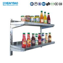 Heavybao гарантия качества из нержавеющей стали кухонные Настраиваемые настенные полки