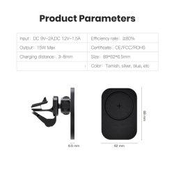 Sem Fio magnético Carregador Veicular Suporte com Magsafe para iPhone 12