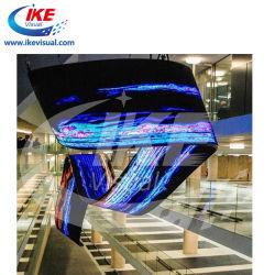 コンサートの段階のショッピングモールのためにLED表示パネルを広告する車のモーターショーデジタルのためのシリンダーによって曲げられるLED表示