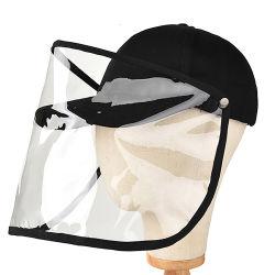 Nueva máscara de plástico desmontable sombreros a prueba de virus de la gorra de béisbol