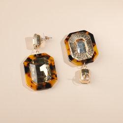 Retro Big Rhinestone Résine acrylique Mesdames Bijoux Earring mère-fille