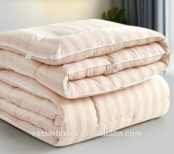 Крышка пуховым одеялом хлопка 3см полосой Satin поездки одеяла для авиакомпании