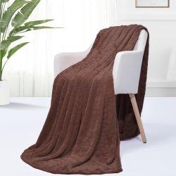 Trama ultra suaves mantas de lana tejida y lanzan acogedor