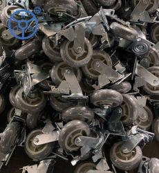 Wbd 4 5 6 8 인치 열가소성 고무 캐스터 회전 Ruedas Gray TPR 휠 Industriale Trolly 휠 캐스터 브레이크