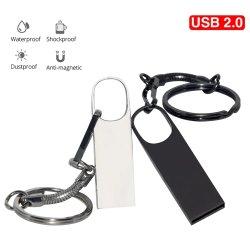 메탈 USB 2.0 펜 드라이브 USB 플래시 8GB 16GB 높이 속도 USB 드라이브 sb 스틱 펜드라이브 32GB 64GB 128GB U 키체인을 포함한 선물 디스크