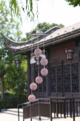Esfera de corda levou a energia solar par de inundação do Sensor de Aviso de vento Piscina planta inicial Flower Pot Rua Teto Paisagem Árvore Jardim relvado de decoração iluminação crescer