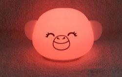 Lampada a clapping LED in morbido silicone-TPE, lampada notturna, lampada decompressione lunare al posto letto, lampada a pat