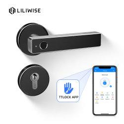 Smart loquets Antivol Split d'empreintes digitales d'identification de système de suivi de sécurité Bluetooth Houesehold de poignée de porte magnétique numérique Verrouiller verrouille