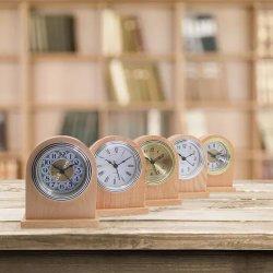 자연 색상 목조 시계 호텔 객실 알람 데스크 시계