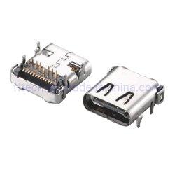 С возможностью горячей замены для поверхностного монтажа при послепродажном обслуживании тнт версии 3.1 USB типа C гнездо 24p тип разъема USB типа C C USB 3.1 разъем гнездового разъема