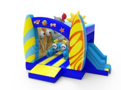 공장 가격 Clown 가정용품 Kids PVC Mini 불atable Bouncer 슬라이드 포함