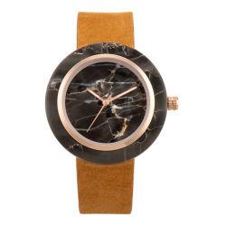 رجال أصليّة ساعة ساعة [رترو] مسيكة طبيعيّ رخاميّة [لثر سترب] ساعة طالب وقت فراغ نمو ساعة بالجملة