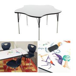 학교 Quincunx는 HPL 상단을%s 가진 Whiteboard 활동 책상을 건조하 지운다