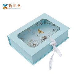 Kundenspezifisches fantastisches Großhandelspapier gedruckter Geschenk-Paket-Kasten mit Belüftung-Fenster