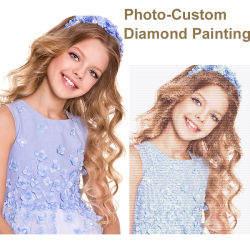 Photo Custom Diamond Painting 5D DIY photo de rhinestones Diamond Broderie 3D point de croix décoration de mariage