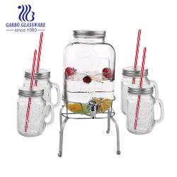 5L en verre distributeur de jus de jeu basé sur la tige métallique d'étagère inférieure titulaire bocal en verre de boire ensemble GB211005000. J5
