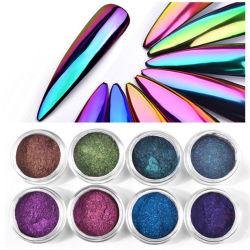 Espejo mágico polvo Camaleón óptica Espejo Espejo Mágico de uñas variedad Sinfonía de polvo de purpurina