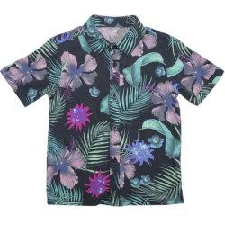 Los chicos más jóvenes de la moda de playa de manga corta camiseta impresa