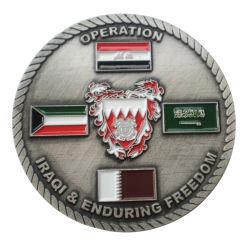 Esmalte programável banhados a ouro brilhante 3D Metal US Army Challenge Coin com ponta de diamante Custom loja maçónica desafio barato moedas metálicas (380)