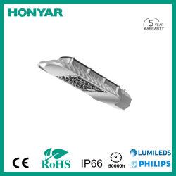 Luz de Rua LED/LED de luz de estrada >145lm/W com 50W~180W alto lúmen IP66 em alumínio fundido sob pressão em alumínio/CE/RoHS/EMC/LVD